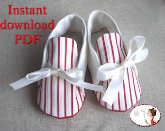Sewing. Pattern. Baby. Sailor. Shoes. Booties. DIY.  pdf
