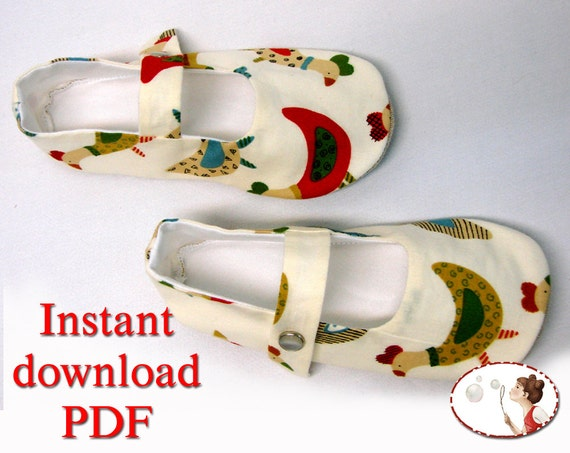 Mary Jane Girl Shoes PDF Sewing Pattern