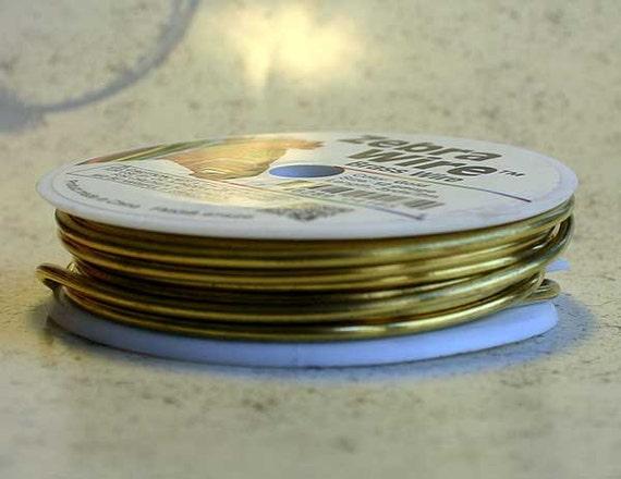Craft wire brass gold 14 gauge beading wire 5 yards wire for 10 gauge craft wire