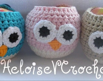 3 Crochet Cozy Patterns - Vaseline Lipbalm, Kleenex Tissue and Apple Owl or Plain - Instant digital download