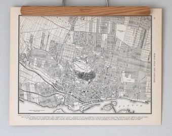 Montreal 1930s Map | Antique Canada City Map