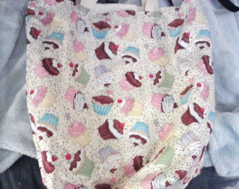 Large Grocery Tote Bag -- Lined/Reversible