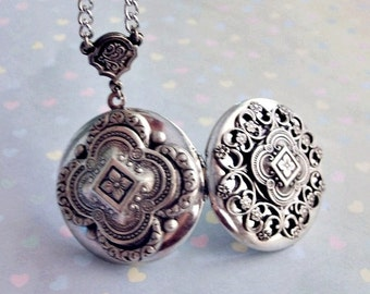 Celtic Splendor DOUBLE SIDED Enchanted Locket Necklace Exclusive Design Only by Enchanted Lockets