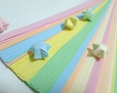 Value Pack - Baby Pastel Rainbow Shower (6 colors) Origami Lucky Star Paper Strips - bulk pack of 600 strips