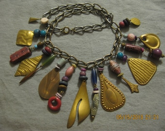 Funky Industrial Charm Necklace