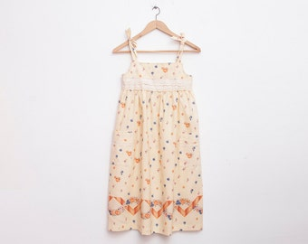 Floral 70s girls sundress  Dead stock Vintage lace