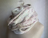 Cowl Pattern / Knitting Pattern / Infinity Scarf Long Textured Cowl / Phydelle / PDF Digital Download