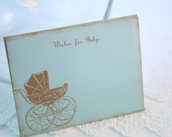 Wish Jar Cards Baby Boy Shower Blue Carriage