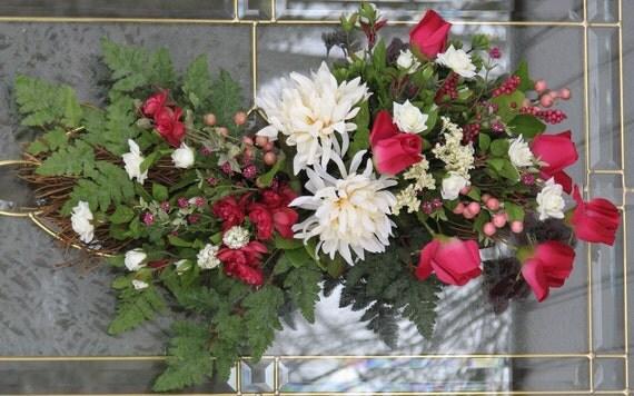 Spring Decor Front Door Decor Door Swag With Roses