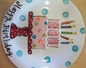 "Custom Order 8""  Birthday Plate"