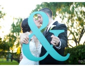 Ampersand Sign - 15 Inch Tall Ampersand Sign Photo Prop Wooden Wedding Sign Photo Prop (Item - AMP150)