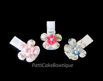 Newborn Hair Clip Set, Baby Barrettes, Baby Bows, Baby Shower Gift, Baby Girl Hair Clips, Baby Accessories, Girls Hair Clips, Alligator Clip