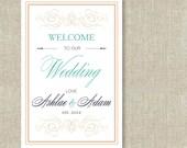Printable Wedding Welcome Sign
