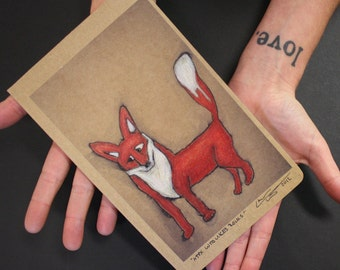 A fox who like rocks Eco-journal or sketchbook