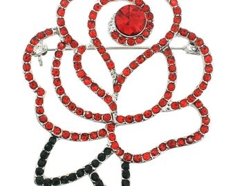 Red and Black Rose Pin Brooch 1000921