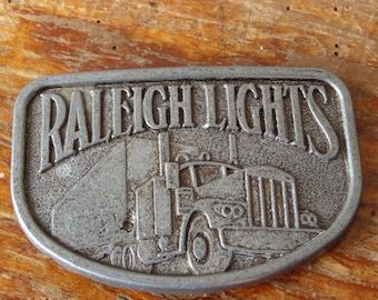 Vintage Raleigh Lights Truck Belt Buckle