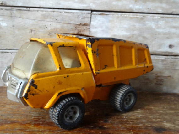 Vintage Metal Gold  Dump Truck From the 60's or 70's Sweet