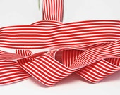 BULK Striped Grosgrain Ribbon 15 yards -- 1.5 inches -- Red White