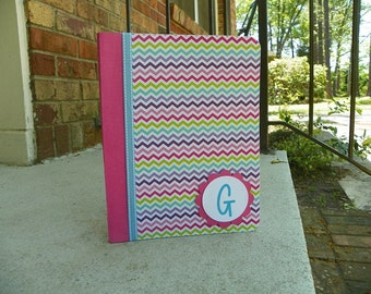 Personalized Chevron Notebook Gifts, Back to School, Teachers, Teen, Kids, Adults, Graduation