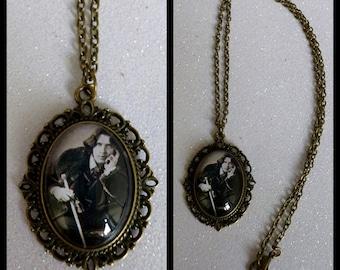 Oscar Wilde Inspired Bronze Cameo Necklace