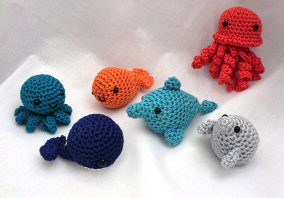 Mini amigurumi water babies PDF crochet pattern by ...