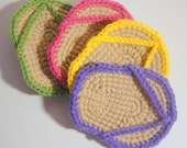Flip Flop Coasters - Set of 4 - Colour Variations Available
