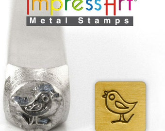 Song Bird  Metal Stamp ImpressArt- 6  mm  Metal Design Stamp-Perfect for Your Hand Stamping Needs-Steel Stamps