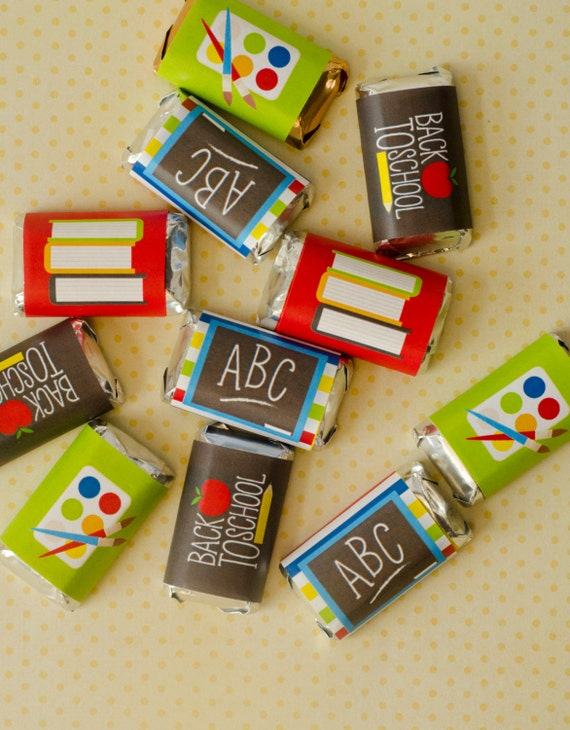 back to school printable mini candy bar wrappers instant