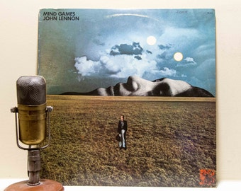 "ON SALE John Lennon Vinyl Record Album 1970s British Pop Art Rock Yoko Ono LP, ""Mind Games""(Original 1973 Apple)"