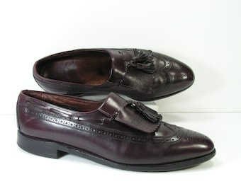 allen edmonds dress shoes mens 11 C burgundy cordovan loafers arlington vintage