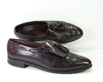 allen edmonds dress shoes mens 11 C burgundy cordovan loafers arlington vintage