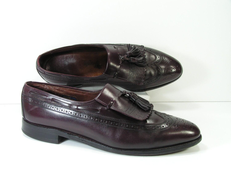 allen edmonds dress shoes mens 11 c burgundy cordovan loafers