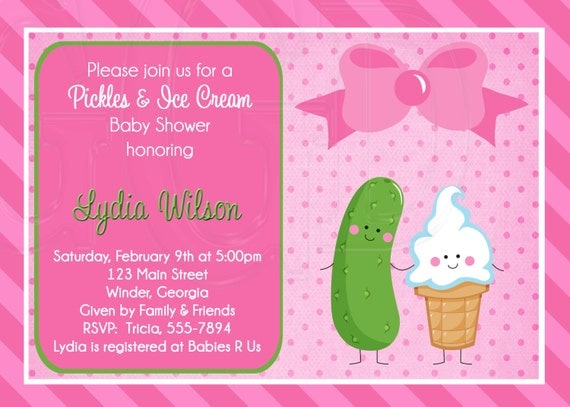 pickles ice cream baby shower or sprinkle for 2nd or 3rd child