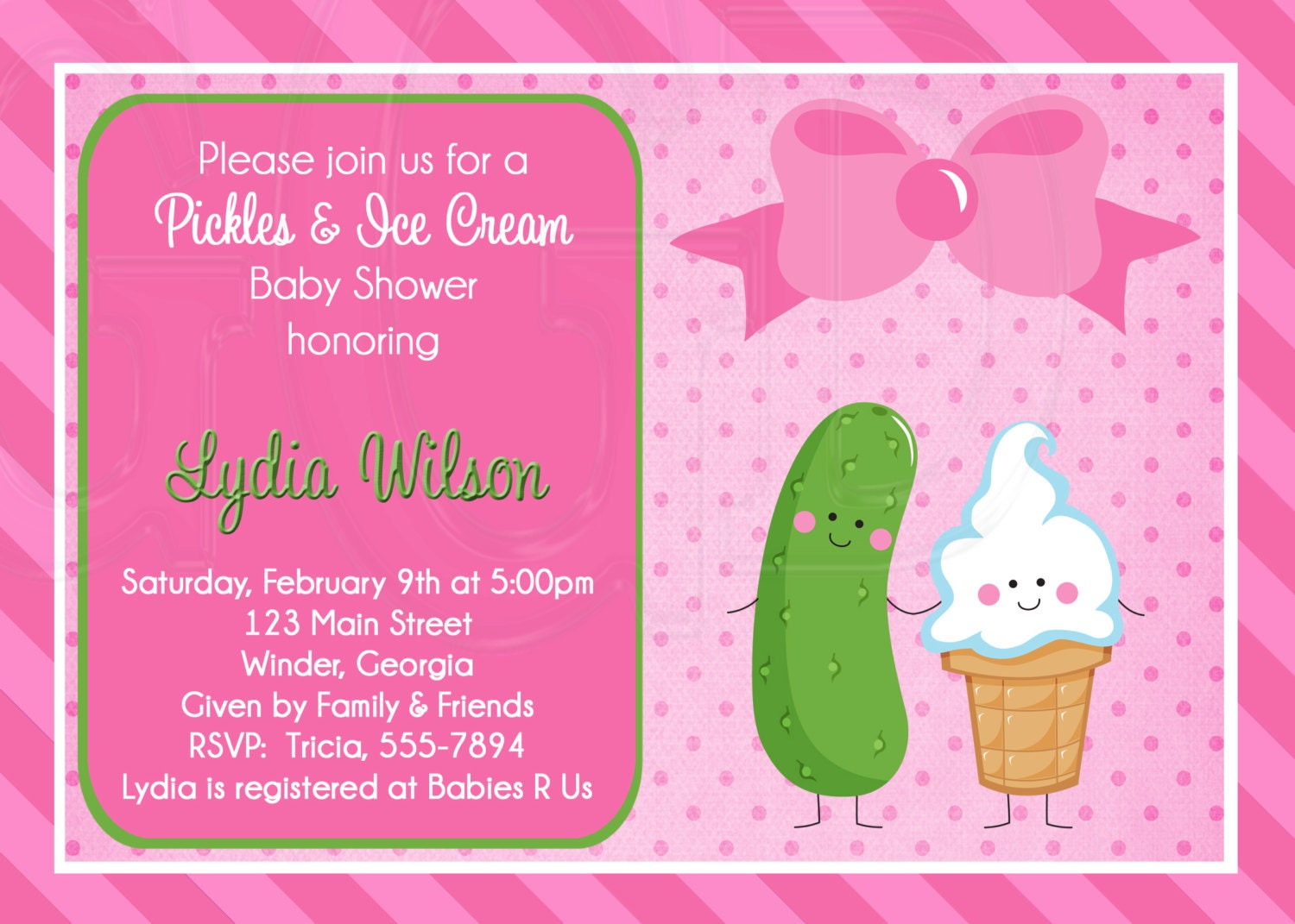 pickles ice cream baby shower or sprinkle for 2nd or 3rd