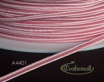 Soutache braid - Rayon flat 3mm soutache cord - light pink (A4401) - 5 meters