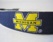 Hemp dog collar - University of Michigan Wolverines