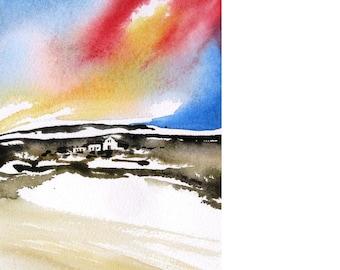 Laguna Sunset - Original Watercolor Painting