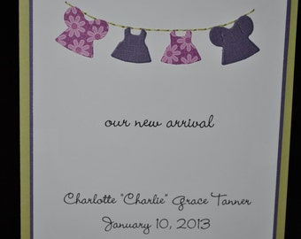 Clothesline Baby Announcement