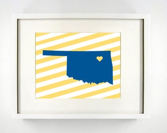Tulsa, Oklahoma Giclée Map Art Print  - 8x10 - Graduation Gift Idea - Dorm Decor