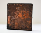 Large Copper Machinery Lithograph printing Block