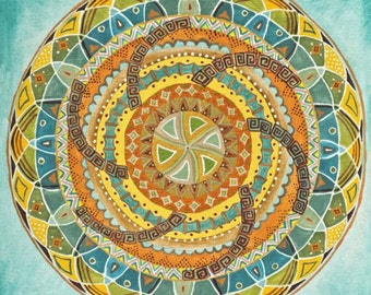 Native American Mandala - Fine Art Signed Print - Mandalamagic1 Original Mandala Art - Colorful Art - Multicolor Art - Wall Decor