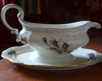 Rosenthal China Gravy Boat Moss Rose Pattern