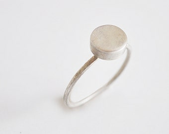 simple circular ring - sterling silver - free shipping