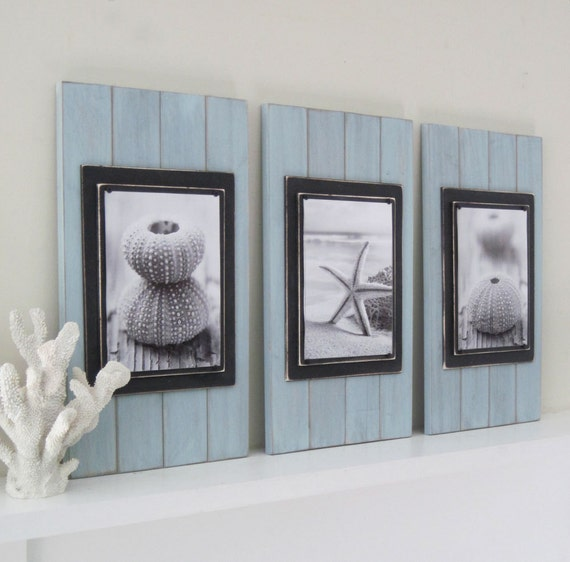 Set of 3 long and large 14x24 plank frames for 8x10 in for How to make a large picture frame