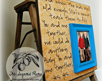 Fathers Day Photo Frame, Fathers Day Gift, Gift Personalized Picture Frame 16x16 Dave Matthews Band Dad, Daddy, PaPa, Grandpa,