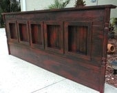 WALL MOUNT King Size Headboard, Rustic Furniture, You Choose Colors