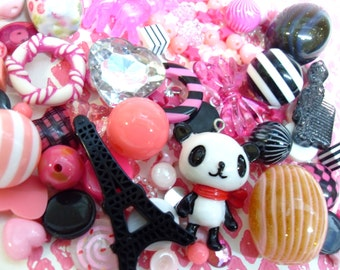 FREE UK SHIPPING 150 pcs Cute Pink and Black Destash