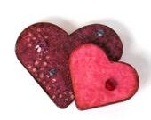 Valentine Magnet Double Hearts Magnet Refrigerator Magnet Fridge Magnet Purple Pink