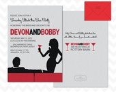 Mad Men Couples Bridal Shower or Engagement Party Invitation