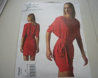 Pattern Ladies Dress Designed by Badgley Mischka Sizes 12 to 20 Vogue 1337 A